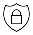 security shield with lock thin line icon 48x48 vector image