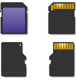 Set memory card vector image