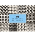 Set of Ten Seamless Black and White vector image