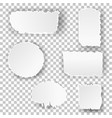 set torn white note vector image vector image