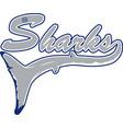 shark logo mascot vector image vector image