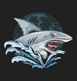shark rage face deep blue sea artwork vector image