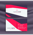 simple geometric pink business card design vector image vector image