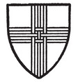 skirlaw bore silver a cross of three upright vector image vector image