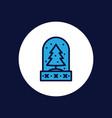 snow globe icon sign symbol vector image vector image