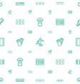 soccer icons pattern seamless white background vector image vector image