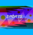 sports abstract background vector image vector image