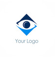 square cam eye logo vector image vector image