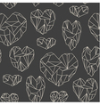 stone heart seamless pattern vector image