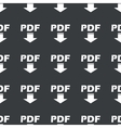 Straight black PDF download pattern vector image vector image