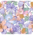 Summer seamless pattern with wildflowers vector image vector image
