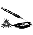Syringe with the drug vector image vector image