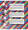 three notes and puzzle vector image vector image