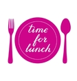 Time for lunch hand made brush lettering vector image vector image