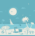 vacation theme and beach vector image vector image