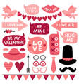 valentines day photo booth props pink love vector image vector image