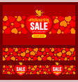 valentines day sale advertising design set vector image vector image