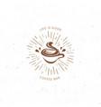vintage dark coffee emblem flat retro vector image vector image