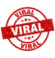 viral round red grunge stamp vector image vector image