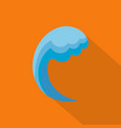 wave water ocean icon flat style vector image vector image