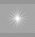 white luminous transparent light vector image vector image