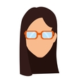 woman avatar character isolated icon vector image vector image