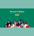 womens rights web landing page template vector image vector image