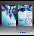 brochure flyer template design with geometric vector image