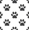 cat footprint seamless pattern vector image
