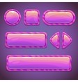 Set of pink funny buttons vector image