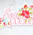 Vintage Sticker Design element for wedding vector image