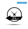 24 hours icon eps 10 vector image vector image