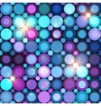 Abstract circle lights background vector image