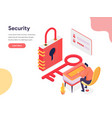 access and security concept isometric design vector image