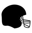 american football helmet the black color icon vector image vector image