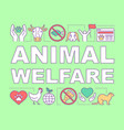 animal welfare pet shelter word concepts banner vector image vector image