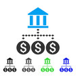 bank structure flat icon vector image vector image