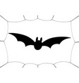 bat icon bat wings black web silhouette vector image