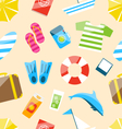 Beach Seamless Wallpaper vector image vector image