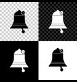 bell icon isolated on black white and transparent vector image vector image