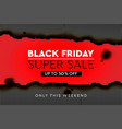 black friday super sale banner poster burnt vector image vector image