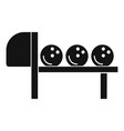 bowling stand balls icon simple style vector image