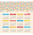 Calendar for 2016 Ice cream Week Starts Sunday vector image vector image