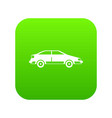 car icon digital green vector image