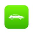 car icon digital green vector image