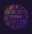 China viruses linear colored circular
