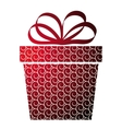 Christmas with gift box on red vector image vector image