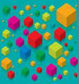 color cubes with reflections vector image