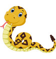cute snake vector image