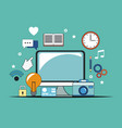 digital marketing technology business image vector image